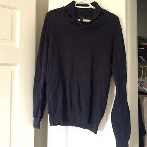 J. Crew Men's Cotton-Cashmere Shawl-Collar Sweater